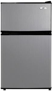 Ft. 2 Door Compact Stainless Steel Fridge Freezer